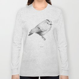 Goldcrest (Regulus regulus) - grey Long Sleeve T-shirt