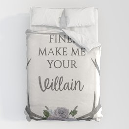 Make me your villain - The Darkling - Bardugo - White Duvet Cover