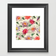 Lotus Flower Pattern Framed Art Print