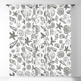 Seashell Print Blackout Curtain