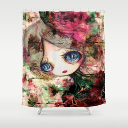 Creature in Bloom Shower Curtain