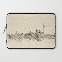 Berlin Germany Skyline Sheet Music Cityscape Laptop Sleeve