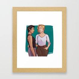 Cas & Swift Framed Art Print