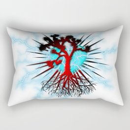 Joshua Tree Heart Light by CREYES Rectangular Pillow