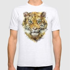 Tiger // Strength 2X-LARGE Ash Grey Mens Fitted Tee