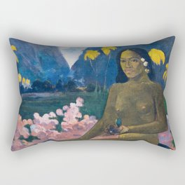 The Seed of the Areoi by Paul Gauguin Rectangular Pillow