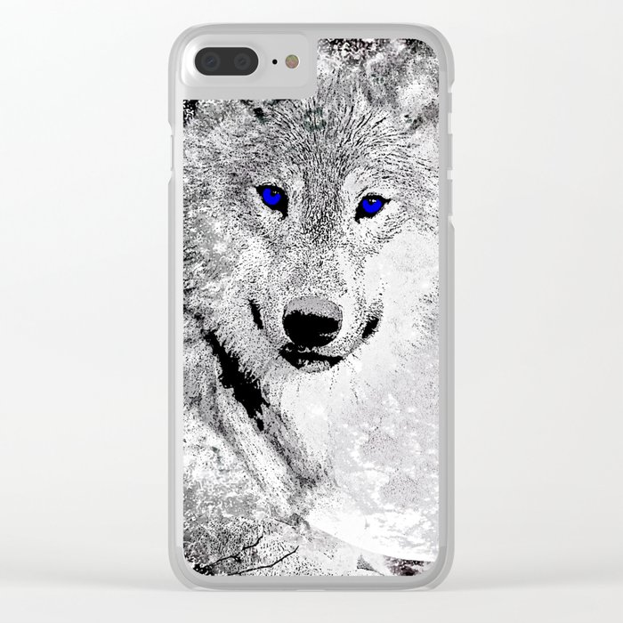 WOLF#5 Clear iPhone Case