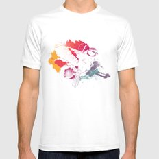 Bird of Colour Mens Fitted Tee White MEDIUM