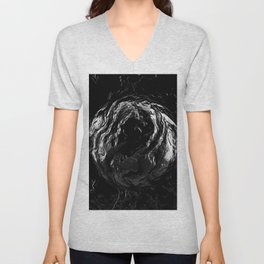 Abstract dark Unisex V-Neck