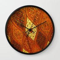 batik Wall Clocks featuring batik  by customgift