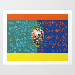 Junkie Robot Art Print