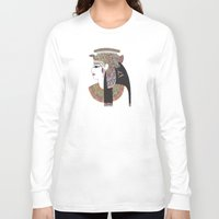 egyptian Long Sleeve T-shirts featuring EGYPTIAN GODDESS by Bianca Green