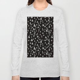 Winter Forest at Night Long Sleeve T-shirt