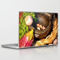 vegetables Laptop & iPad Skins featuring vegetables by  Agostino Lo Coco