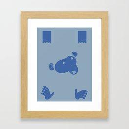 Hanging Monkey Framed Art Print