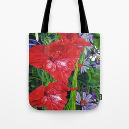 Gladiola's and Echinacea Tote Bag
