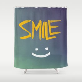 Smile (: Shower Curtain
