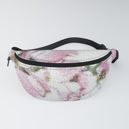 Dogwood Tree Flowers (stained glass-pink&green) Fanny Pack