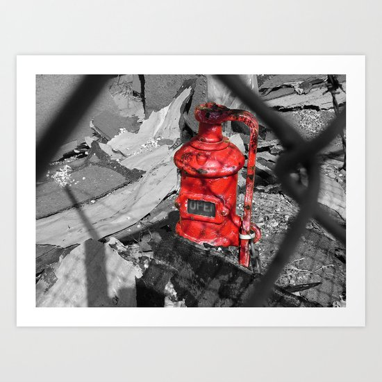Old Fire Hydrant Art Print