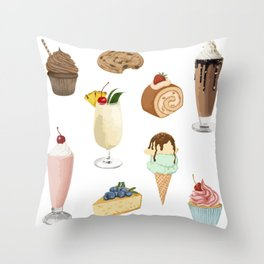 Delicious Bakery Throw Pillow
