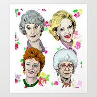 The Golden Girls Flowers Art Print