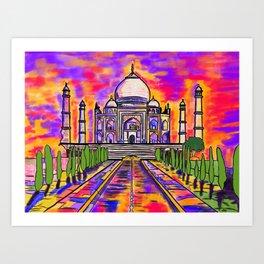Wah Taj ! Art Print