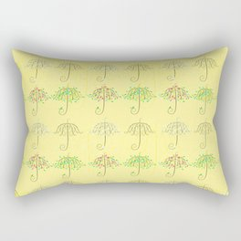 Umbrella Shape Tree 4 Seasons Rectangular Pillow