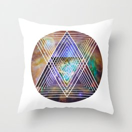 Cosmogeometry Throw Pillow