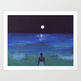 In Moonlight Black Boys Look Blue Art Print