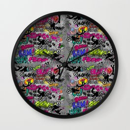 Braaap MotoX Collage Wall Clock
