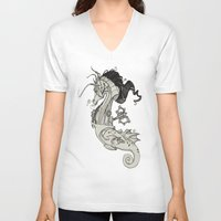 steam punk V-neck T-shirts featuring Steam Punk Horse  by FlyingFrogIllustration