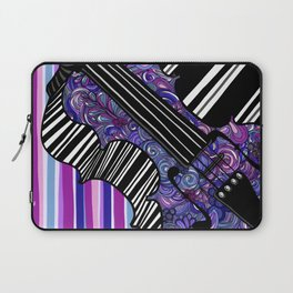 Study in the key of Purple - cello Laptop Sleeve