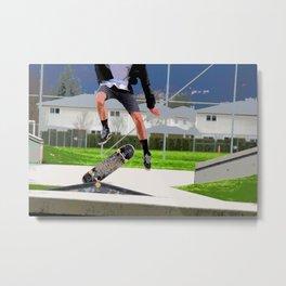 Missed Opportunity  - Skateboarder Metal Print