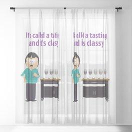 Randy Marsh Tasting Wine Meme Sheer Curtain