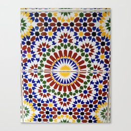 moroccan zellige Canvas Print