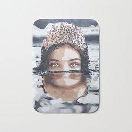 Water Girl stencil art Bath Mat