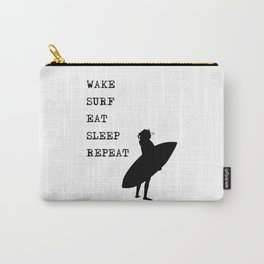 Wake Surf Eat Sleep Repeat Carry-All Pouch