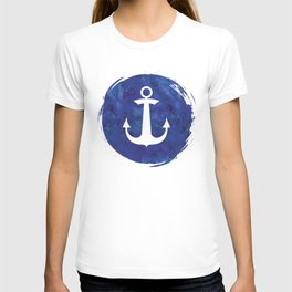 Watercolor Ship's Anchor T-shirt