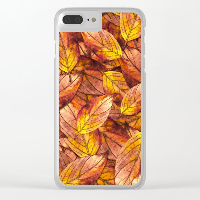 Autumn Leaves 03 Clear iPhone Case