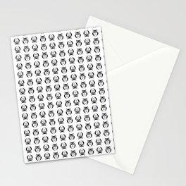 black owl pattern Stationery Cards