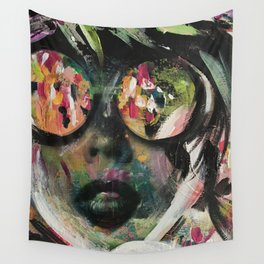 wild one mixed media, collage, vintage photography, bold, bright, beautiful Wall Tapestry