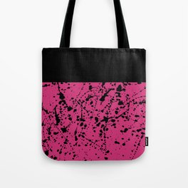 Splat Black On Yarrow Boarder Tote Bag