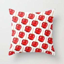 Candy Apple Throw Pillow