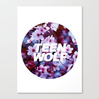 teen wolf Canvas Prints featuring Teen Wolf by harrystyless