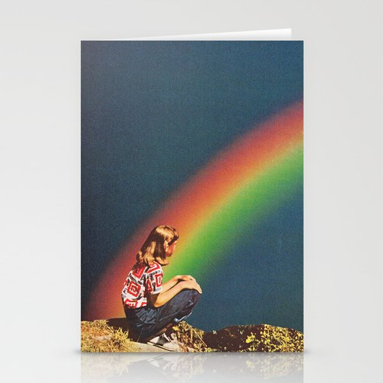 NIGHT RAINBOW Stationery Cards
