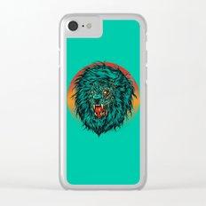 Zombie Lion Clear iPhone Case