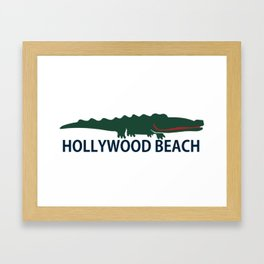 Hollywood Beach - Florida. Framed Art Print