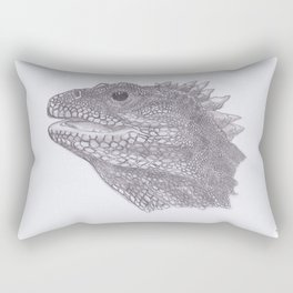 Happy Tuatara Sketch Rectangular Pillow