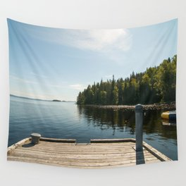 Sunny Day at the Dock Wall Tapestry