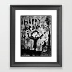 Death Boy: World Goth Day Framed Art Print